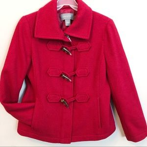 Ann Taylor Wool Toggle Zip Up Coat Jacket Size M